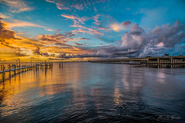 Sunset over Charlotte Harbor (Punta Gorda FL) [4000x2663] [OC]