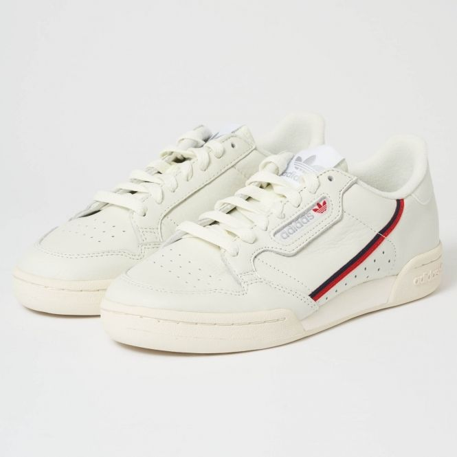 adidas Originals Continental 80 Off White & Scarlet | Off