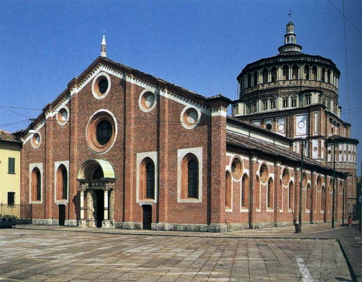 Донато Браманте. Santa Maria delle Grazie: Façade and dome begun c. 1492 Santa Maria delle Grazie, Milan.