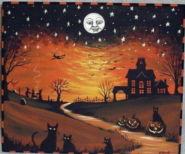 A misty moon is hanging low, Swirling Autumn breezes blow.  There's magic in what Halloween brings with wishes for life's sweetest things.