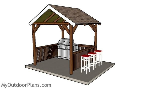 8x8 Grill Gazebo Plans Myoutdoorplans Free Woodworking Plans