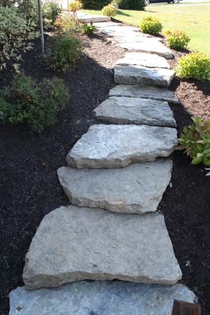 Fieldstone Walkway With Landscaping Landscaping Ideas