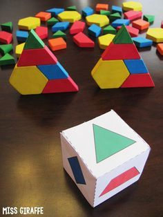 Towers game and other super fun composing shapes math games! Love these ideas!