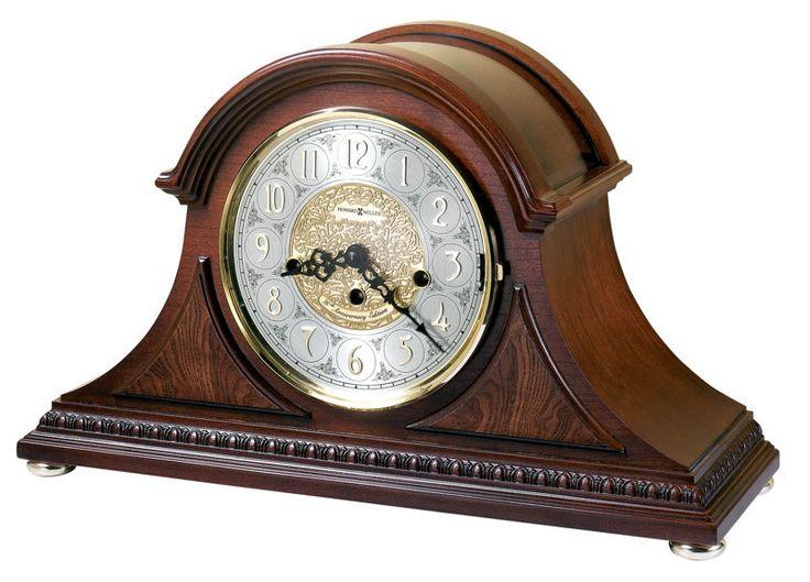 Howard Miller Key Wound Chiming Tambour Mantel Clock 630200 BARRETT This  Tambour Howard Miller Mantel