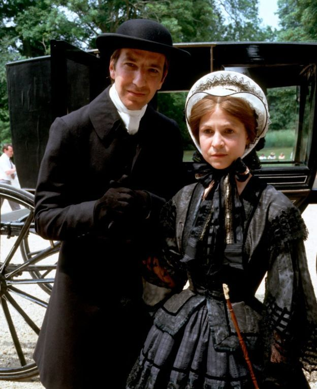 Alan Rickman and Janet Maw in a dramatisation of Anthony Trollope's stories The Barchester Chronicles