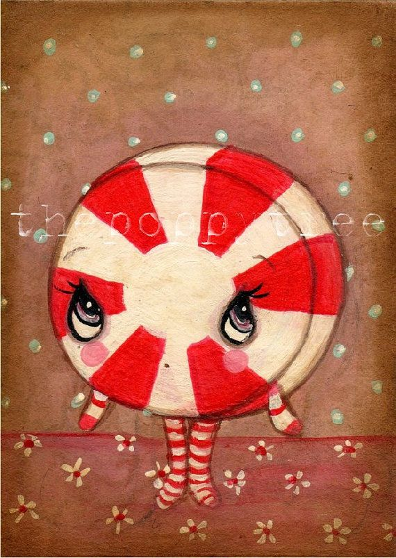 Candy Girl---Original Painting ACEO