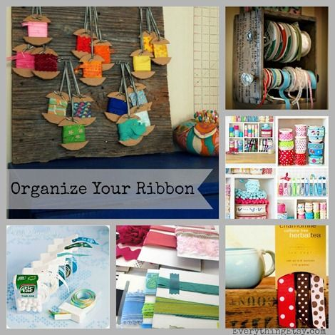 Organize Your Ribbon {18 Inspiring Ideas} @Everything Etsy