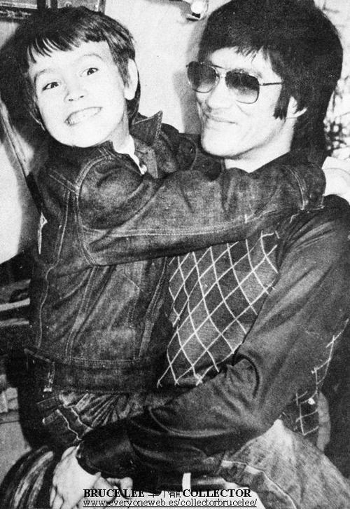 The close and loving bond shared by Bruce Lee and his beloved son, Brandon Lee.