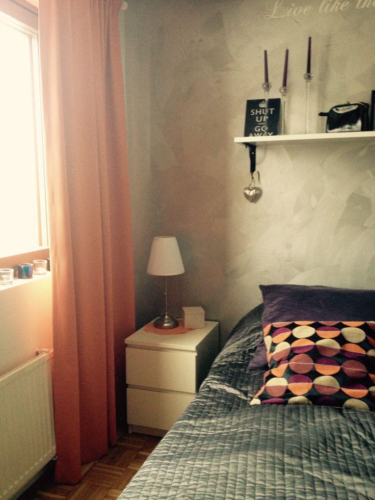 Bedroom, Wall Paint, Home, Deco  Tikkurila, Taika Hopeamaali