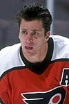 Rod Brind'Amour  - In true Flyer style, he was a scoring leader, was on the ice for almost the entire game, was quick to jump in to defend a teammate , and seemed indestructible -  bloody gashes - give him a couple minutes to get stitches and he's back on the ice. A great team leader