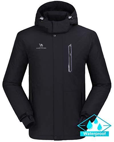 340ab9df0 CAMEL CROWN Ski Jacket Men Waterproof Warm Cotton Winter Snow Coat ...
