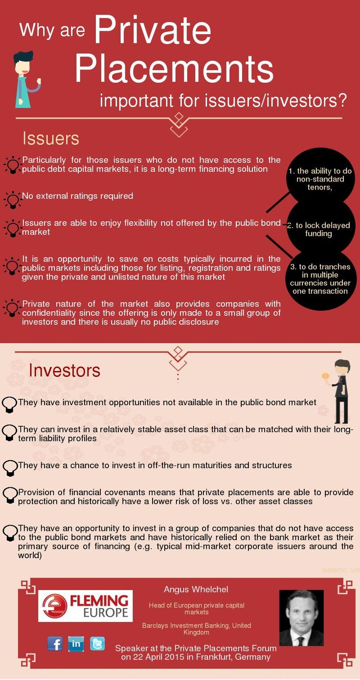 Why are Private Placements important for issuers / investors? Find out in an infographic. http://finance.flemingeurope.com/private-placements-forum