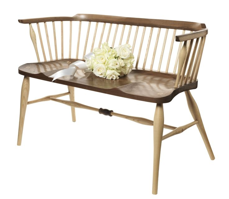 AYLA - Wedding Bench Walnut Double-Windsor Chair