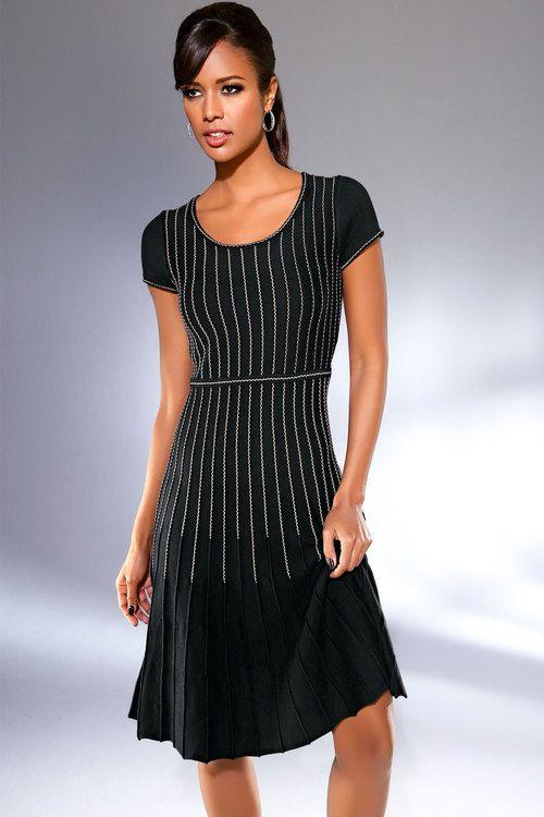 Heine Fit and Flare Knit Dress Online | Shop EziBuy