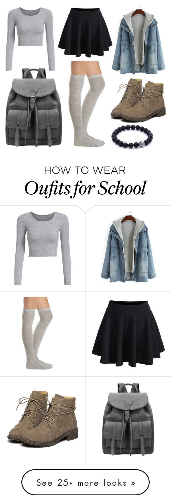 """""""School Day"""" by susanna-trad on Polyvore featuring Charlotte Russe"""