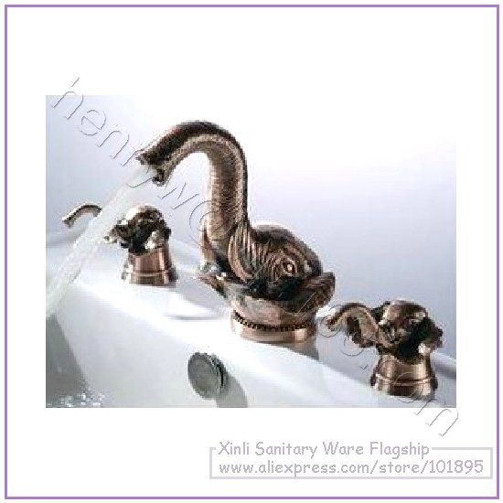 OMG THESE ARE SO AMAZING! Luxury Brass Elephant Faucet, Hot & Cold Elephant Mixer,