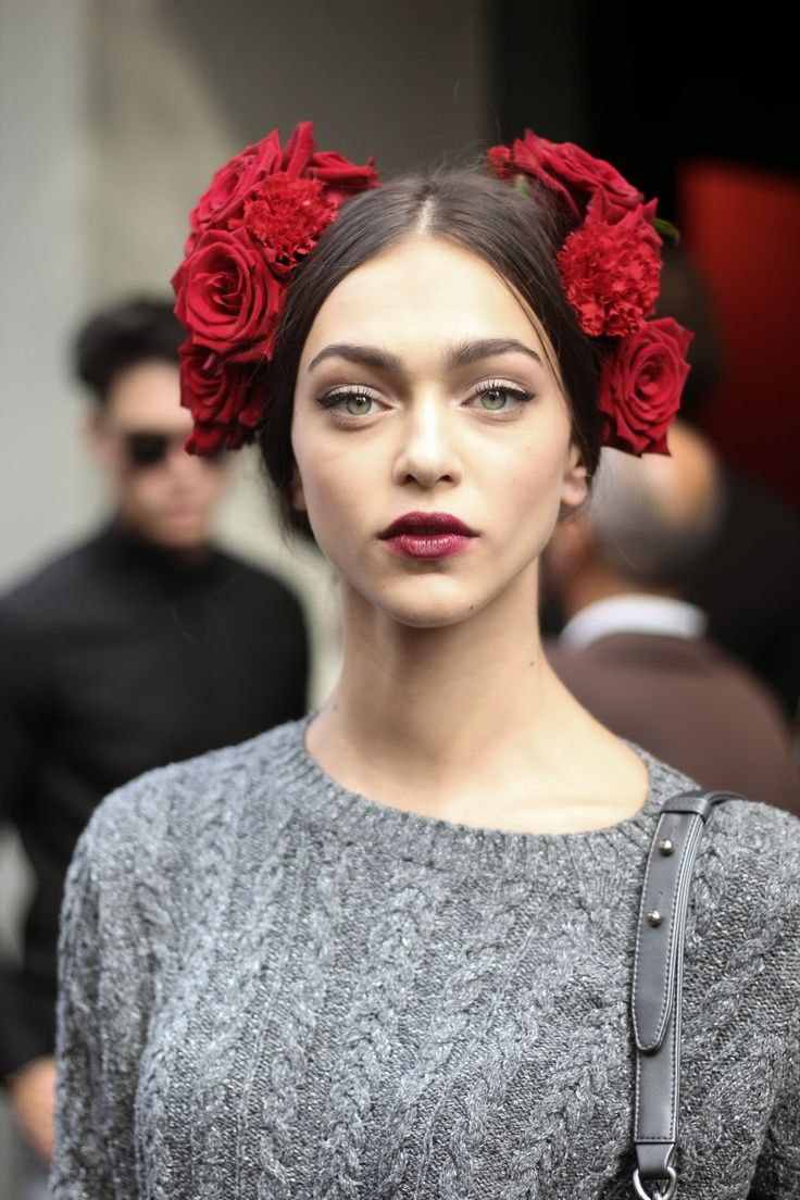 Zhenya Katava, Dolce & Gabbana Spring 2015. Source: Patrick G. Cardirchelier