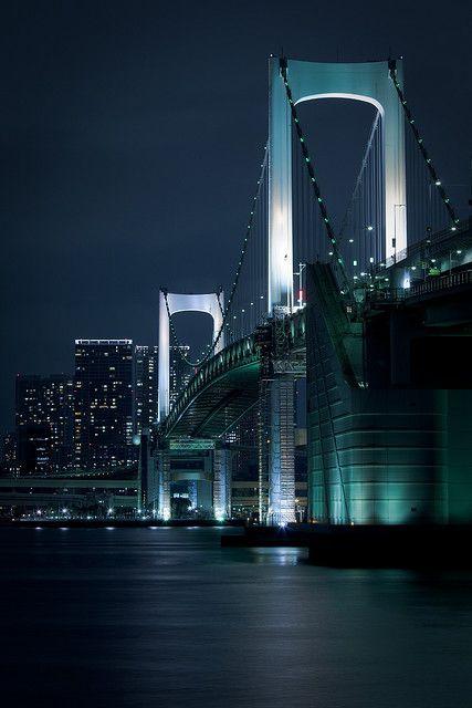 Night Street - Rainbow Bridge/Odaiba,Tokyo,Japan