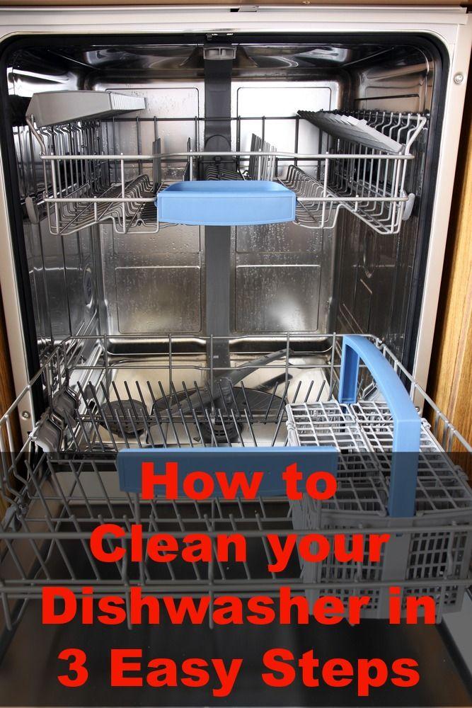 How do you deodorize a dishwasher?