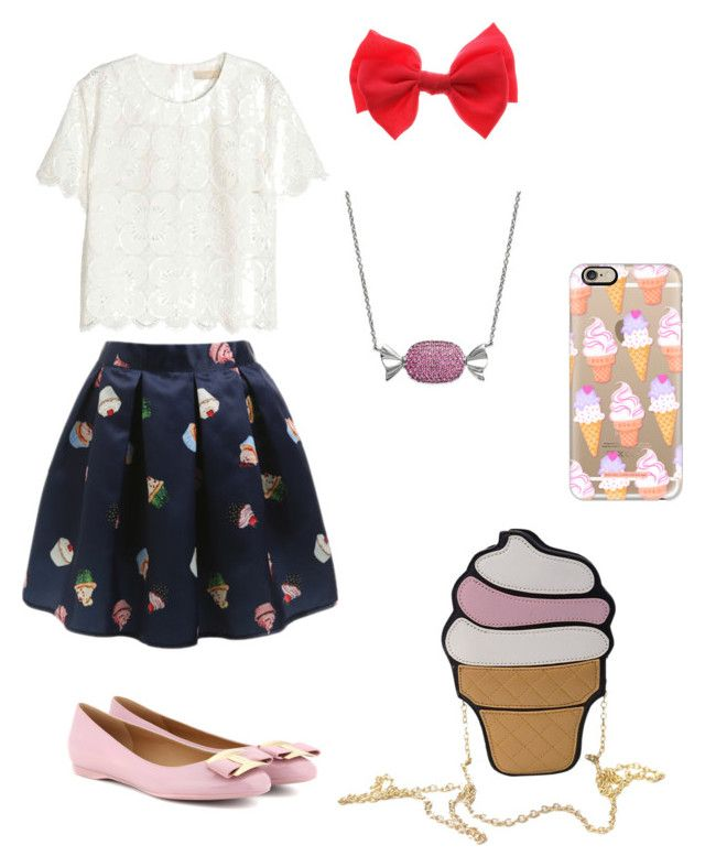 """Have an extra sweet day"" by rainbowfra on Polyvore featuring Casetify, Simone I. Smith and Salvatore Ferragamo"