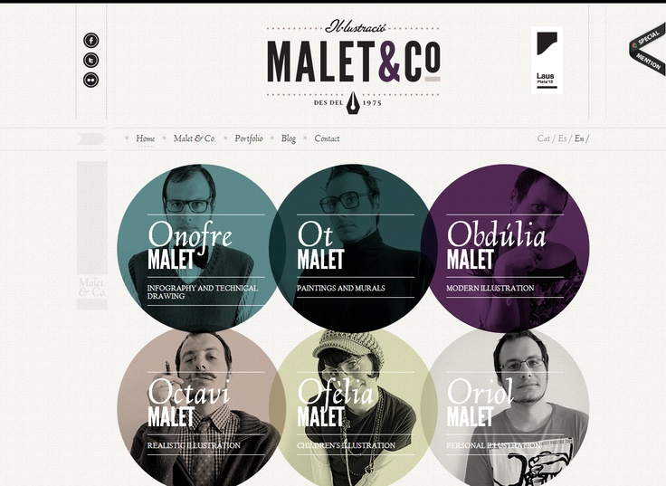 Article On Examples Of Circles In Web Design For Inspiration. Contains  Great Web Designs With Circular And Round Elements With Beautiful  Craftsmanship.