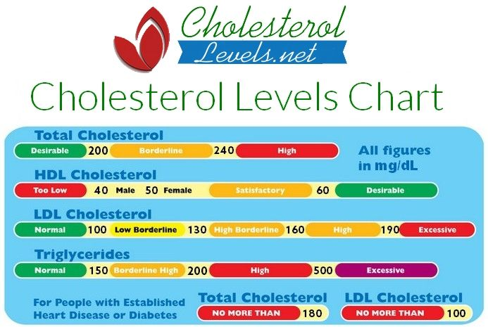 A cholesterol chart of total hdl ldl and triglycerides healthy