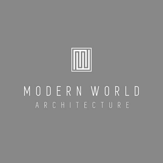 Custom Logo Design, Architect Logo, MW Monogram Logo, Business Logo Design