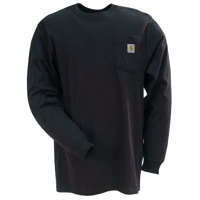 Carhartt Clothing Men's Black K126 BLK Long Sleeve Work Shirt
