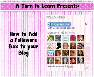 A Turn to Learn: How to Add a Followers Box to Your Blog