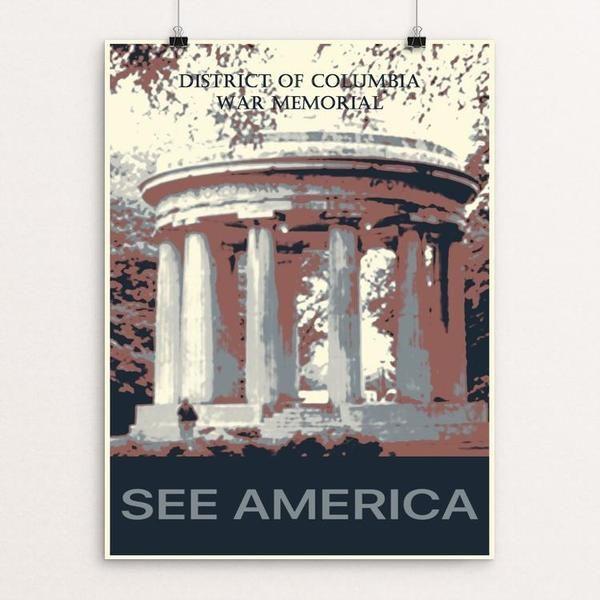 District of Columbia War Memorial 2 by Bryan Bromstrup
