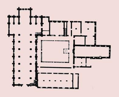 Planimetria dell'Abbazia di Fossanova,Priverno