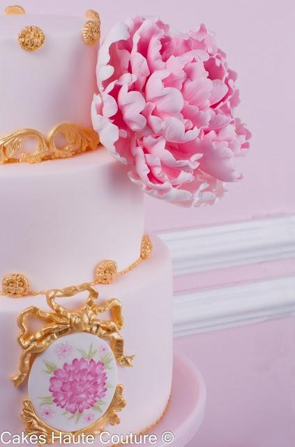 Peony cake / Pastel con peonía