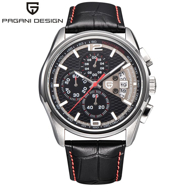 >> Click to Buy << PAGANI DESIGN Luxury Outdoor Army Wrist Watches Stops Date Analog Men Genuine Leather Pin Buckle Chronograph Quartz Relogio 2017 #Affiliate