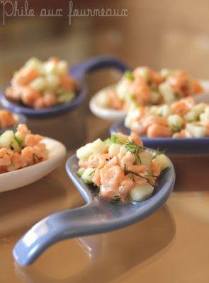 Philo aux fourneaux: Tartare de saumon & pommes granny-smith