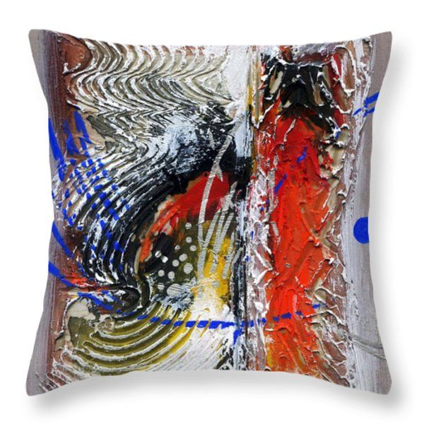Throw Pillow featuring the painting Life Of Circle by Rupam Shah