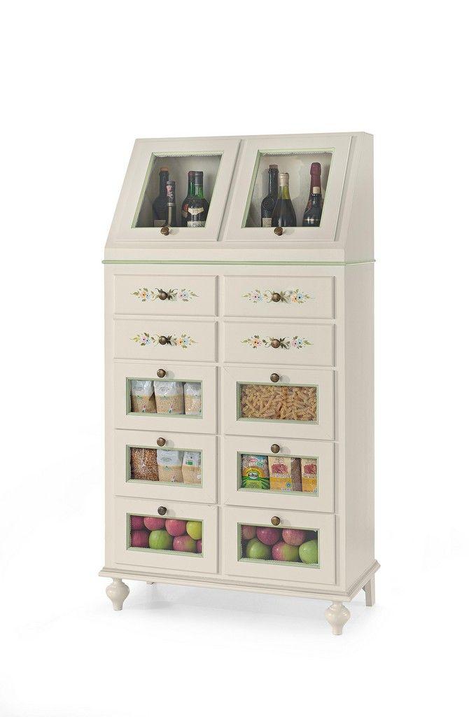 Oltre 25 fantastiche idee su cassettiera su pinterest - Mobile cucina dispensa ...