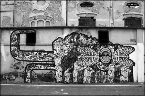 M-CITY + ORTICANOODLES at Bergamo (Italy) - courtesy Traffic Gallery - 2008