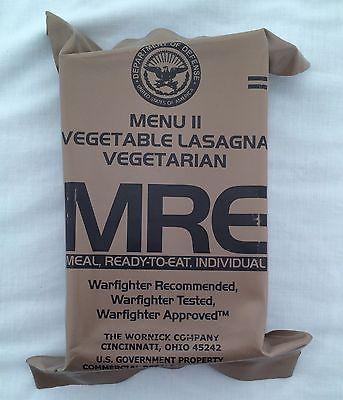 MRE Menu II Vegetable Lasagna VegetarianSopakco Packaging Survival Food