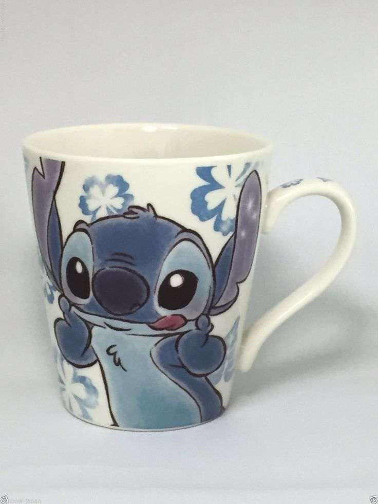 Disney Lilo & Stitch Mug Cup Fuzzy Pattern Glass Cute For Lunch Bento Japan