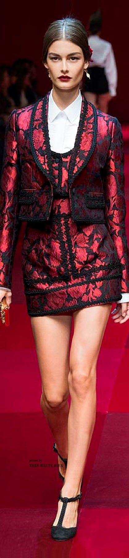 Dolce & Gabbana Spring Summer 2015 ♔ Très Haute Diva