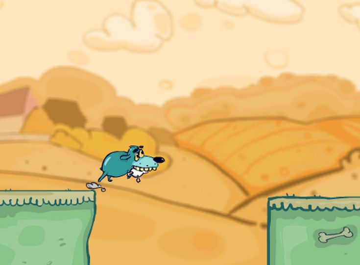 Have You Ever Played  Doggy run, jump or glide to escape angry Bill!   game?