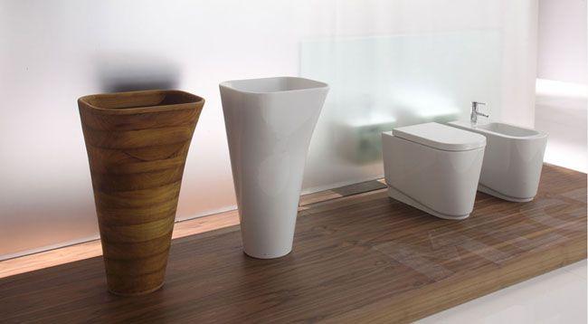 Meg 11 - Washbasins monolith and sanitary wares  ----- Lavabo monolite e sanitari a terra, collezione Meg11
