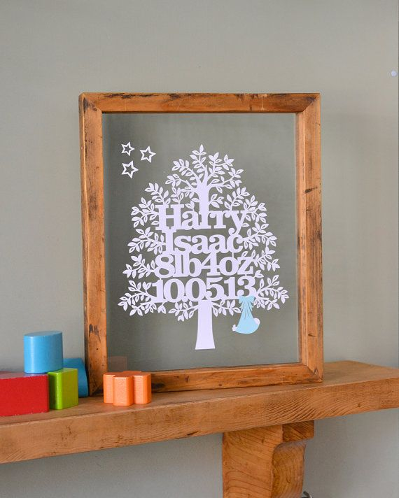 Delightful, personal New Baby gifts and Christening gifts brought to you by the original Papercut Family Tree creator, Kyleighs Papercuts.