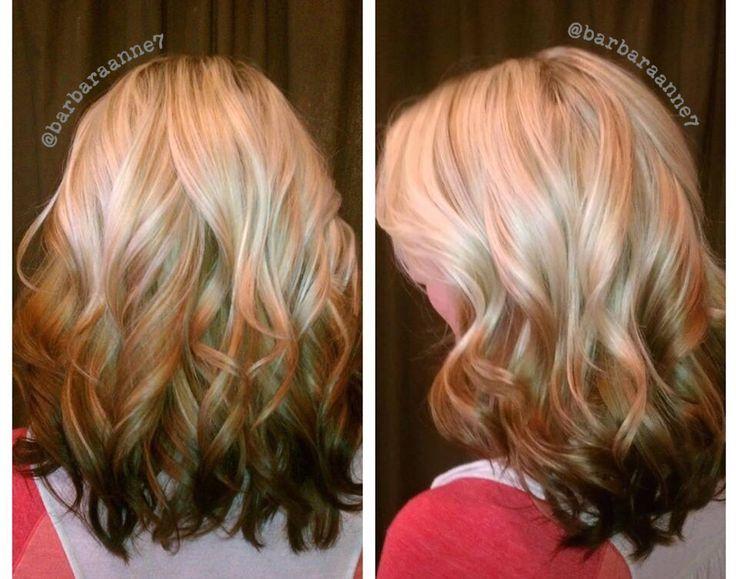 Reverse Ombré, blonde to brunette, platinum, @kenra color ...
