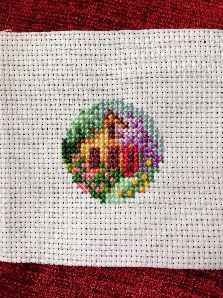 Cross stitch little cottage garden