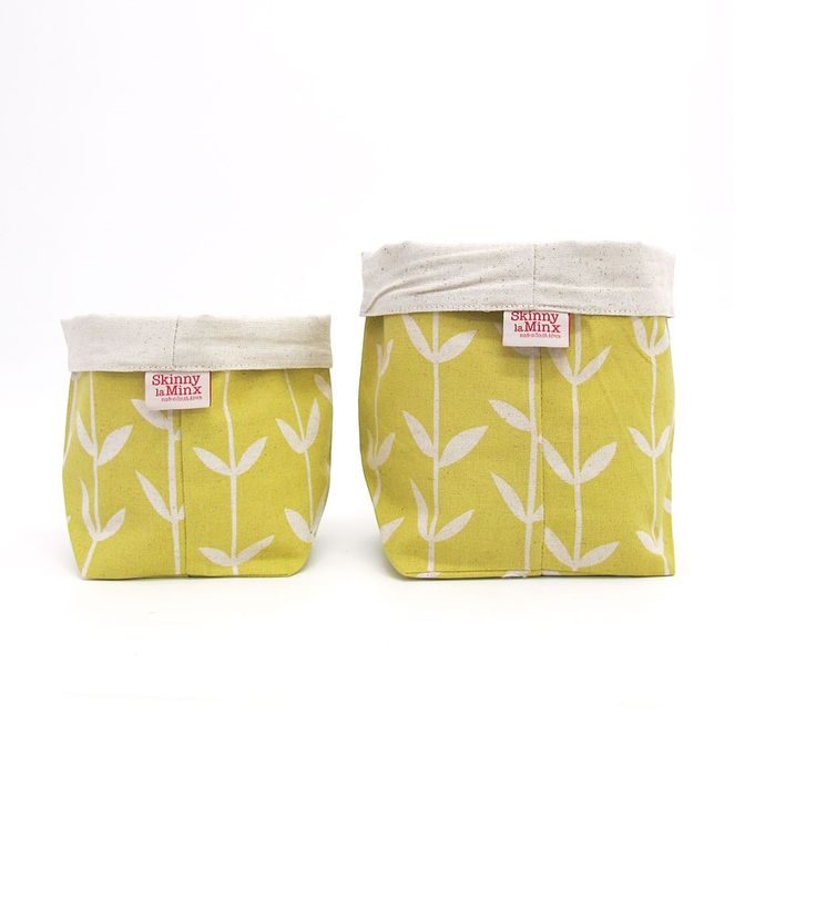 Soft Buckets in Orla Lemon by SkinnyLaMinx - buy these bold, bright and beautiful buckets in UK at wolfandapple.co.uk. You will be surprised of their many uses!