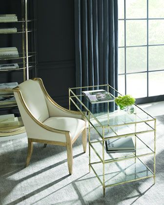 Whisper+of+Gold+Glass+Writing+Desk+by+caracole+at+Horchow.