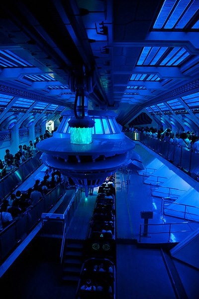 Our Wildfire Luminescent Paints create dramatic ultra-violet visual effects! Here they are at the Space Mountain ride in Tokyo Disneyland -- still looking GREAT after opening in 2006!