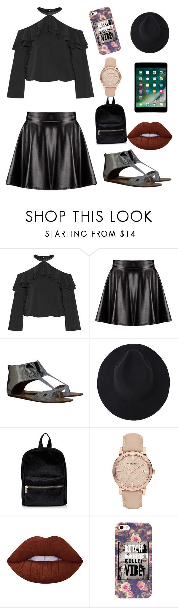 """Untitled #82"" by nicolegarlow ❤ liked on Polyvore featuring Alice + Olivia, Boohoo, Sigerson Morrison, Burberry and Lime Crime"