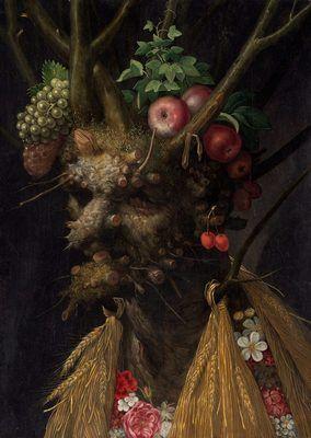 Les Quatre Saisons en une Tête, par Giuseppe Arcimboldo…